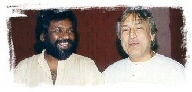 Rajan with Amjad Ali Khan